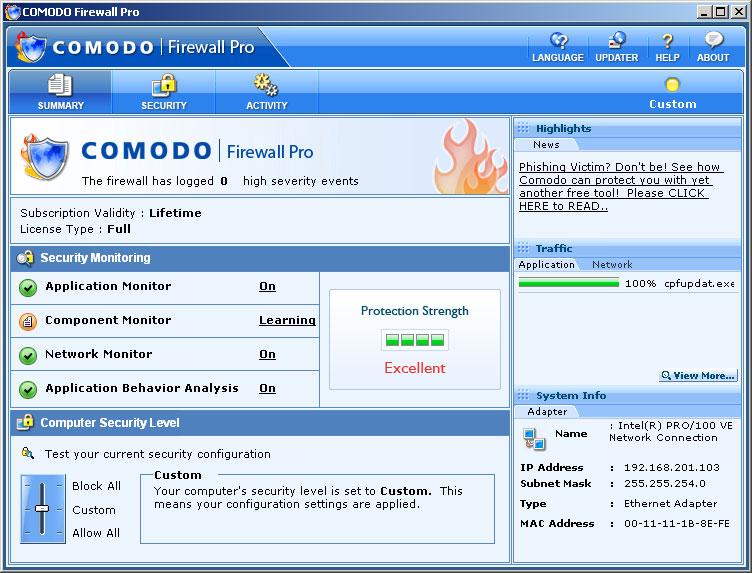 Firewall Comodo