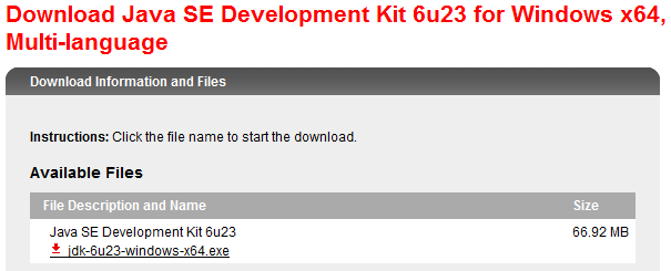 Download java jdk di Sun