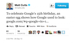 matt-cutts-tweet-15th-birthday-easter-egg